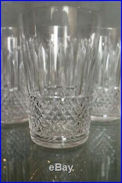 Suite de 8 hauts verres à jus de fruit en cristal taillé Baccarat Saint Louis