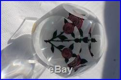 Sulfure Presse-Papiers Saint Louis Paperweight Roses de Clichy