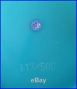 Sulfure paperweight presse papier CRISTAL signé ST LOUIS 1990 Ed. Limité 117/500