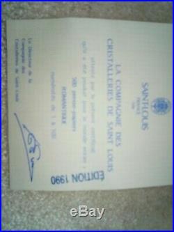 Sulfure-presse papier AUTHENTIQUE SAINT LOUIS année 1990