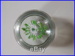 Sulfure presse-papier cristal Baccarat Saint-Louis XIXe double clématite usures