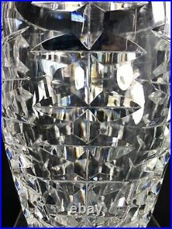 Superb Vase Cristal Taille Massif Ht 18.5 CM Qualite St Louis Baccarat Annees 50