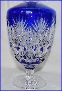 Superbe Carafe De Couleur Bleu Saphir En Cristal De St Louis Florence