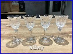 Superbe Cristal Saint-louis Tommy Service De 4 Verres A Vin Blanc