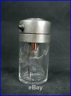 Superbe Flacon A Parfum Vaporisateur En Cristal Gravé Art Nouveau Saint-louis