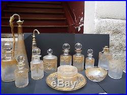 Superbe ensemble de toilette 1900 en cristal (Baccarat Saint-Louis)