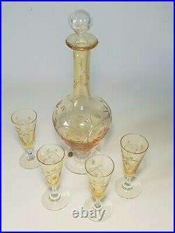 Superbe service carafe a liqueur en cristal saint-louis