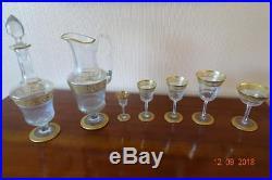 THISTLE verres et carafes cristallerie saint louis Hermès