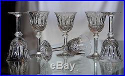 TOMMY ST LOUIS 6 verres à vin en cristal/ signée ESTAMPILLES crystal glasses