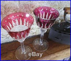Tommy 2 roemer / verres du rhin en cristal saint louis