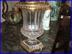 Très Beau Vase Médicis en Cristal et Bronze 29.5 cm, St LouisVal Saint Lambert