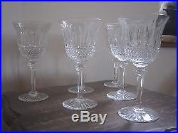 Tres Belle Serie De 6 Verres A Vin En Cristal De Saint Louis Modele Tommy C
