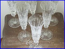 Tres Belle Serie De 6 Verres Flutes A Champagne En Cristal De Saint Louis Tommy
