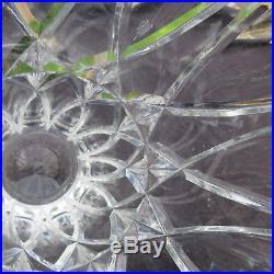 Très grand vase en cristal taillé de saint louis signé