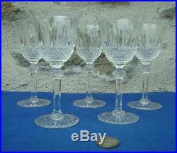V36 Série 5 Verres Anciens Vin Cristal St Louis Modèle TOMMY 14cm lot