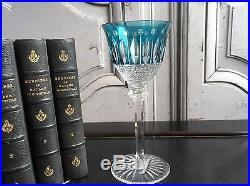 Verre A Vin Du Rhin Cristal Bleu Clair Signe Saint Louis Modele Tommy
