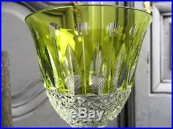 Verre A Vin Du Rhin Cristal Vert Clair Signe Saint Louis Modele Tommy