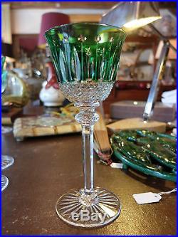 verre a vin du rhin cristal vert signe saint louis modele tommy verres cristal st louis. Black Bedroom Furniture Sets. Home Design Ideas