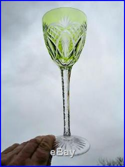 Val Saint Louis Lambert Verre A Vin Roemer Cristal Taillé De Couleur Coloré Ab