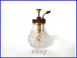 Vaporisateur cristal Baccarat Saint-Louis laiton antique french XXème