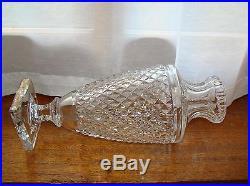 Vase cristal Saint Louis diamants pied carré