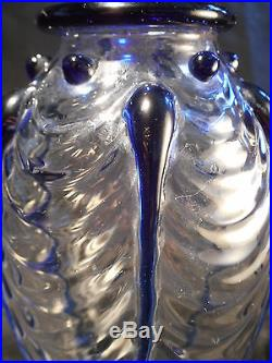 Vase en cristal Art verrier Saint Louis Paul Nicolas Art déco