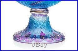 Vases Art Nouveau aux bleuets par Saint-Louis (2). Art Nouveau vase Saint-Louis