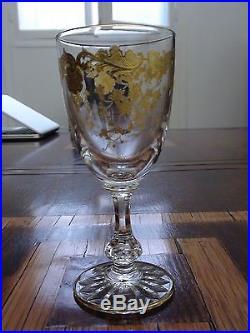 Vente d'un service Massenet Or / Cristal Saint Louis en parfait état