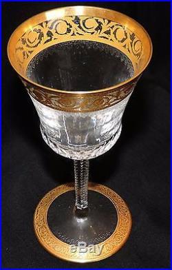 Verre A Bordeaux En Cristal De St Louis Thistle Or En Parfait Etat