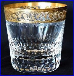 Verre a whisky en cristal de st louis thistle or en parfait etat verres cri - Verres a whisky en cristal ...
