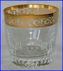 Verre A Whisky Gobelet En Cristal De St Louis Thistle Or