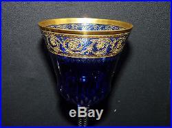 Verre Cristal St Louis Thistle Or Roemer Couleur Bleu En Parfait Etat