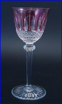 Verre Roemer cristal crystal Saint St louis Tommy signé améthyste 19,8 cm