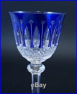 Verre Roemer cristal crystal Saint St louis Tommy signé bleu blue 19,8 cm
