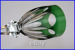 Verre Roemer en cristal de Saint Louis modèle Chambord vert