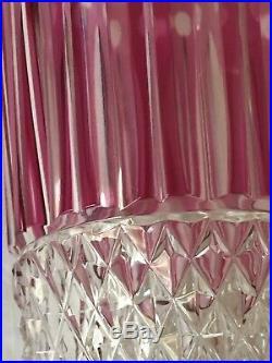 Verre Saint-Louis en cristal modèle Tommy couleur mauve estanpillé