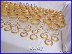 Verre à Bordeaux 142mm en Saint St Louis Cristal Thistle Or signé parfait état