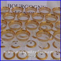 Verre à Bourgogne 162mm Saint St Louis Cristal Thistle Or signé parfait état