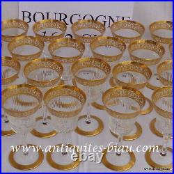 Verre à Bourgogne 162mm en Saint St Louis Cristal Thistle Or signé parfait état