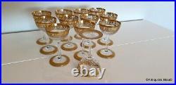 Verre à Cocktail 120mm Saint St Louis Cristal Thistle Or signé parfait état