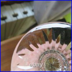 Verre à roemer cristal de saint louis tommy de couleur vert signé H 19,6 cm
