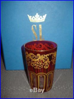 Verre à thé, Cristal Saint Louis, modèle Rabat, neuf jamais servi