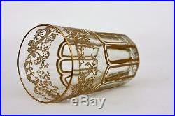 Verre à thé en cristal de St Louis modèle Rabat Or NEUF