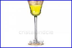 Verre à vin Roemer chartreuse Thistle en Saint-Louis. Wine glass Hock Thistle