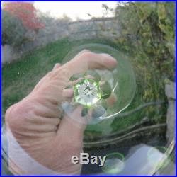 Verre de couleur chartreuse ou ouraline en cristal baccarat st louis autres