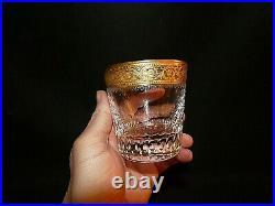 Verre en cristal model Thistle de Saint Louis verre a wisky Thistle dorure
