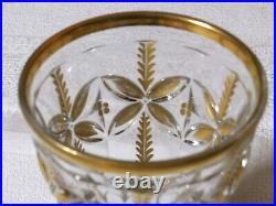 Verre gobelet Cristal doré de Saint-Louis 11 cm époque restauration Charles X