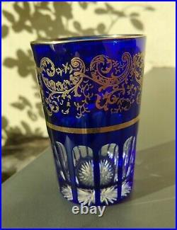 Verre gobelet en cristal de Saint Louis, Rabat, Signé