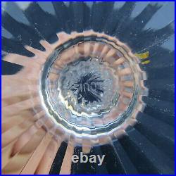 Verre roemer en cristal de saint louis tommy de couleur améthyste signé H 19,8