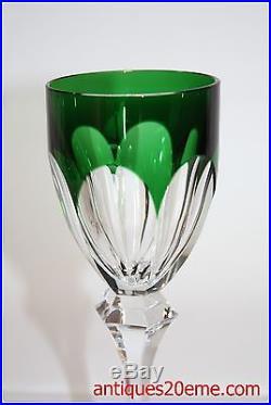 verre vin du rhin roemer en cristal doubl saint louis chambord vert verres cristal st louis. Black Bedroom Furniture Sets. Home Design Ideas